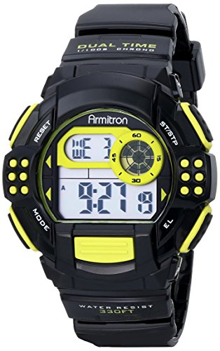 armitron-sport-unisex-45-7044lgn-lime-green-accented-digital-chronograph-black-resin-strap-watch
