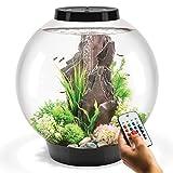 biOrb Classic 60L Aquarium in Schwarz mit MCR LED Beleuchtung