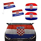 Sonia Originelli Fan-Paket-10-XL Auto WM Länder Fußball Flaggen Motorhaube Farbe Kroatien