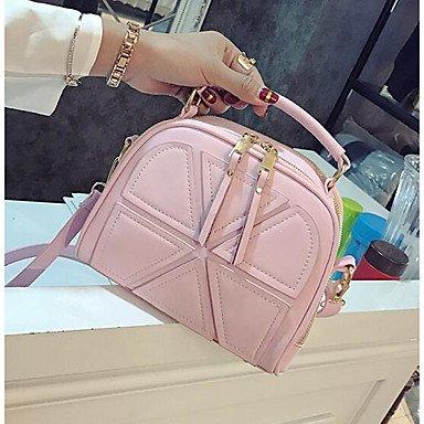 SUNNY KEY-Borsa a tracolla @ Donna Borsa a tracolla PU (Poliuretano) Per tutte le stagioni Casual Cerniera Nero Rosa Grigio , blushing pink gray