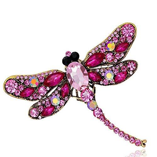 (Topsaire Brosche Weihnachten Damen Deko Schmuck Vintage Dragonfly Animal Brooch Bekleidung Schal Zubehör Clip Poncho Taschen Nadeln Accessoires Hochzeit Geburtstags Liebhaber Geschenk FürFrauen)