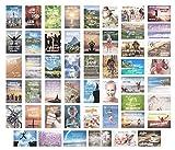 Set 50 Postkarten Leben & Momente mit Sprüchen - Karten mit Spruch - Geschenk - Geschenkidee - Sortiment - Dekoidee - Text - Liebe, Freundschaft, Leben, Motivation, lustig. Postcrossing