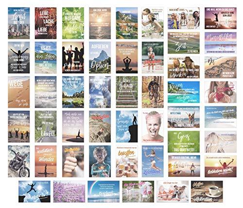 Edition Seidel Set 50 Postkarten Leben & Momente mit Sprüchen - Karten mit Spruch - Geschenk - Geschenkidee - Sortiment - Dekoidee - Text - Liebe Freundschaft Leben Motivation lustig Postcrossing