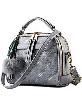 CoCogirls Damen Mädchen Schultertasche PU Leder Schulter diagonal Paket Handtasche weiblichen Tasche reine Schulter...
