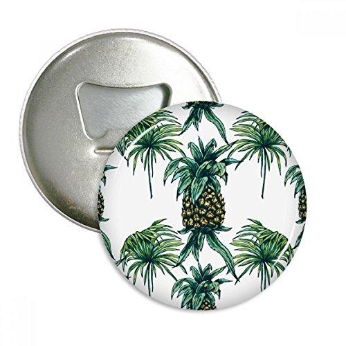 DIYthinker Ananas-Anlage Essen Sie Frucht Grün Runde Opener Magnets Abzeichen-Knopf-3pcs Geschenkflasche Silber - Frucht-anlage
