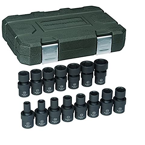 GearWrench 84918N 3/8 Drive Metric Universal Impact Socket Set (15 Piece) by GearWrench