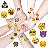 Oblique Unique Emoji Sticker Temporäre Tattoos 48 Stück Aufkleber XXL Emoticons
