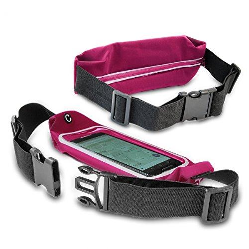 Preisvergleich Produktbild Gütersloher Shopkeeper Neopren Bauchtasche Hüfttasche pink geeignet für Nokia 6 - Jogging Sport Laufgürtel Gürteltasche Handytasche Schutzhülle