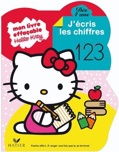 Hello Kitty - J'écris les chiffres dès 4 ans - livre ardoise
