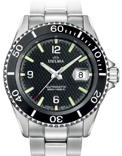 DELMA 407004 - Herren-Armbanduhr, Armband aus Metall, Silberfarben