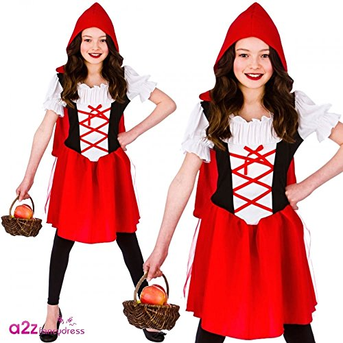 Little Red Riding Hood (11-13) Girls Fancy Dress (Little Riding Red Kostüm Hood)