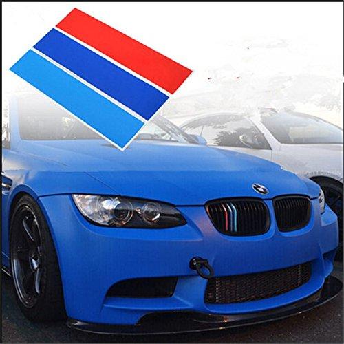 Set di 3 PVC griglia anteriore strisce decalcomanie m Power sport adesivi per B M W serie 1 2 3 5 6 7 8 Z3 Z4 M1 M2 M3 M4 M5 M6 X1 X2 X3 X4 X5 X6 i3 i8