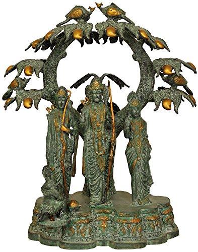Ram Laxman (Exotic India zbz99Shri Rama, Sita, Laxman & Hanuman unter die Mango Baum)