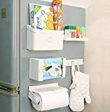 #1: GTC Refrigerator Storage Rack 5 IN 1 Magnetic Tissue Paper-Roll Holder-Spice Rack-Towel Rack-Hook Rack-Cruet Stand-Side Tray Holder-Fridge Organizer Paper Roll With Free Shipping ( IT N - 275 )
