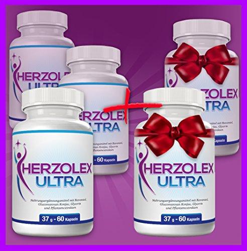 Herzolex Ultra – Diätpille für effektiven Gewichtsverlust | Kaufe 3 Flaschen und erhalte 2 gratis dazu (5 Flaschen)