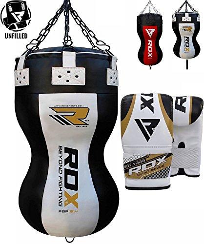 RDX Sacco da Boxe Pelle Montante Sacchi Pugilato MMA Pieno VACANTI Terra Base Allenamento Angolo Body Bag