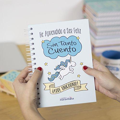 La mente es maravillosa-Cuaderno A5-Regalo para amiga con dibujos-UNICORNIO/ESP