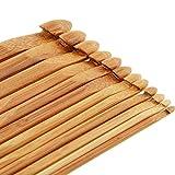 12 Holz Häkelnadeln aus bambus im Set in 12 Größen von 3mm bis 10mm