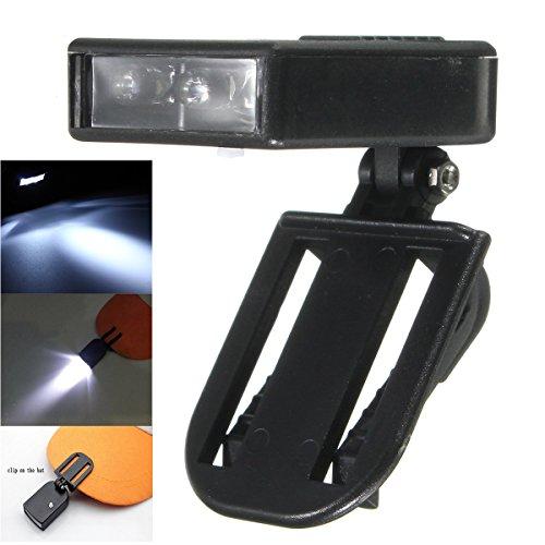 Inovey clip sul tappo luce 3 led cappello luce lampada/torcia per il ciclismo campeggio escursioni pesca