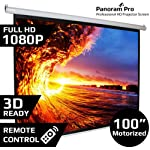 "Motorised Projection Screen, Size:( 152.4cmx203.2cm.)or 100"" Diagonal in American Matt White fabric. This Motorised Projection Screen comes with Radio Frequency Cordless Remote which is used to operate the screen with the touch of a button. Life time..."
