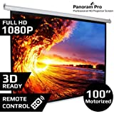 Luzondzire 100'Inch Motorised Projector Screen Home Theatre HD TV Projection 3D