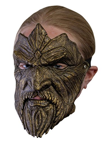 Schaurige Trophäenmaske Bart, LARP-Maske Fantasymaske Fasching Kostüm