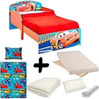 BEBEGAVROCHE Complete Bed Pack Cars Flash McQueen Disney = Bed + Mattress & Bedding + Duvet + Pillow