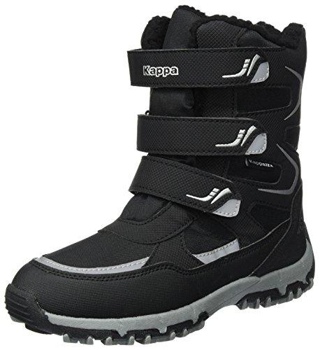 Kappa Unisex-Kinder Tex Boot 260558T-1115 Schneestiefel, Schwarz (Black/Silver 1115), 37 EU