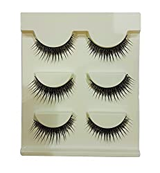 Majik Natural Thick Dense Real Human Hair False Fake Eyelashes Party Eye Lashes