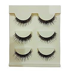 Majik Charming Human Hair Eyelashes For Bridal And Women And Girls, Black, 10 Gram, Pack of 1
