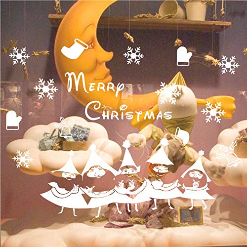 nn-Schneeflocke-Weihnachtsbaum-Wand-Aufkleber-Kinderzimmer-Partei-Ausgangsdekoration-Weihnachtsfenster-Aufkleber-Wand-Dekoration 58 * 44cm ()