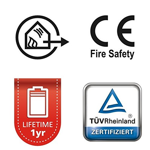 Smartwares TÜV Rauchmelder / Brandmelder, DIN EN 14604, reinweiß, RM149_1J - 10