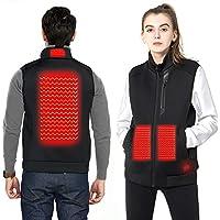 DEKINMAX Beheizte Weste für Herren Damen, Elektrische Beheizte Jacke USB Lade Heizweste, Warme Heat Jacke mit 3 Fakultativ Temperatur für Outdoor-Aktivitäten Wandern Jagd Motorrad Camping