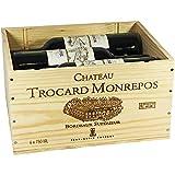 Château Trocard Monrepos 2016 trockener Bordeaux Rotwein in der Original Holzkiste OHK mit 6 Flaschen (6 x 0,75l)