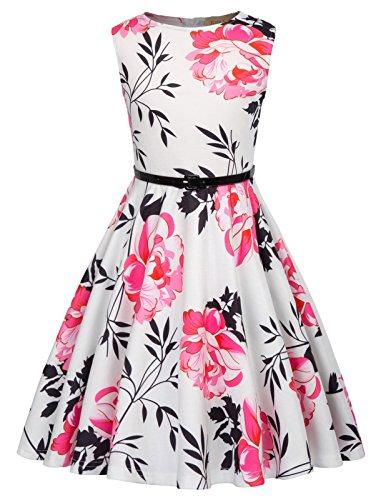 Kate Kasin Suess Maedchen Vintage Hepburn Stil Kleid 9-10 Jahre KK884-2 -