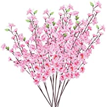 10pcs Flores Artificiales Flores de Durazno de Color Rosa a38b2cf7cab0
