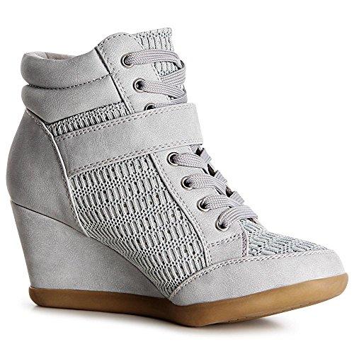 topschuhe24, Sneaker donna Grau ...