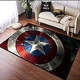 Maize store Tapis De Bande Dessinée Cartoon Arts Créatifs Moderne Décoratif Salon Sofa Anti-Slip Sol Avenger Alliance Iron Man 80Cm X 160Cm,