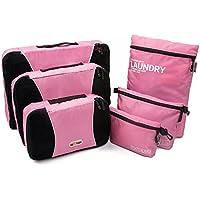 NEXTOUR 6pc Set imballaggio organizzatori–3Cubi di Imballaggio e digitale Accessori Pouch Toiletry Bag Borsa per valigia da viaggio Nuova versione - Swiss Army Set