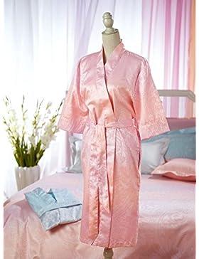 curt Bauer Mako broccato di Damasco Vestaglia 2538Aurora, taglia 44/46, colore arancione e rosa