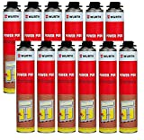 12 x Wuerth Power PUR 750ml 1-K-Pistolenschaum