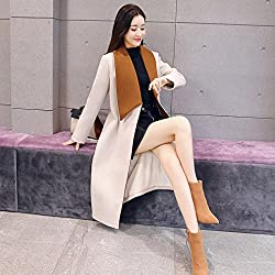 MO Winter Women 'S Fashion Slim Plus Section of the Coat is Irregular Large Lapel Woolen Jacket by MO