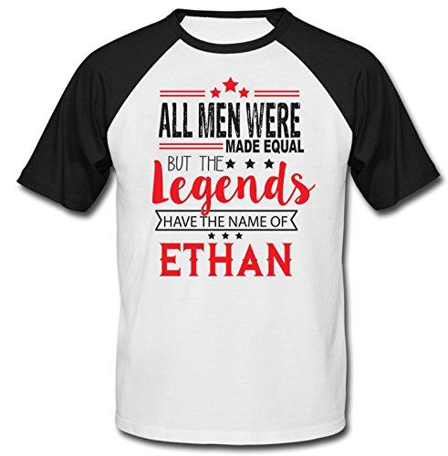 Ethan Black (teesquare1st Men's Ethan Black Short Sleeved T-Shirt Size Large)