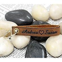 Personalizado Llavero de recuerdo de Llaveros con nombre personalizado en aniversario regalos para hombres para niños