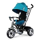 Fascol Triciclo Bebé 3 in 1 Bicicleta triciclos para niños de 8 meses -5 años Máx 30 kg, D-Azul
