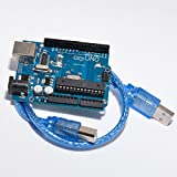 MAKER AND HACKER Arduino Uno R3 Compitible Board with ATmega328P CH340G, First Indian Board with Auto Power selection MADE IN INDIA