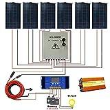 ECO-WORTHY Kit de panneaux solaires Universe 900 W: 6 panneaux solaires flexibles combinant une boîte photovoltaïque et un contrôleur de charge à 6 brins et un convertisseur de charge 60 A et 1500 W...