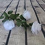 ZHANGYUSEN Simulierte Rose, Künstliche Blumen, Künstliche Blumen, Dekorative Blumen, Foto Schießen Requisiten, Weiß