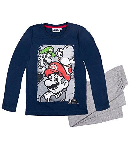 Super Mario Bros Ragazzi Pigiama - blu marino - 104