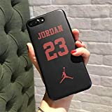 Générique Michael Jordan NBA Air 23 Coque iPhone Chicago Bulls Coque Souple en TPU pour iPhone 5/5s 6/6s iphone 7/8, iPhone X (iPhone 6/6s, J23 Black)